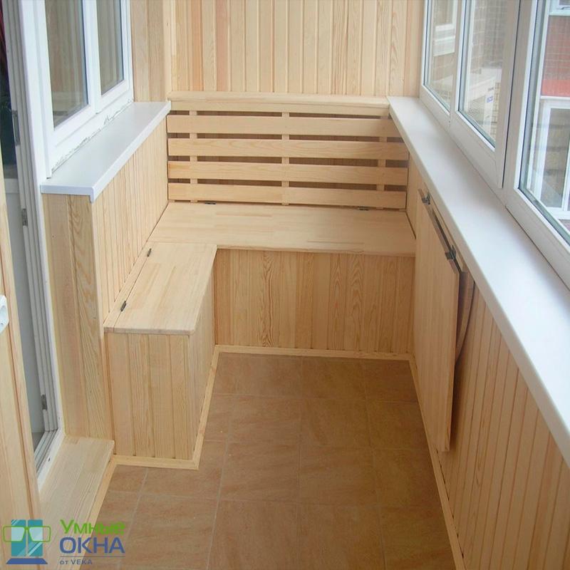 Ремонт и отделка балкона.